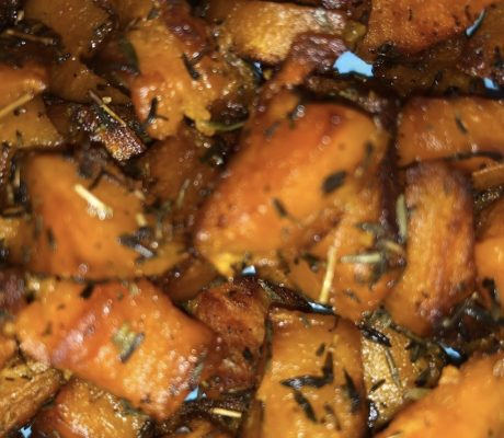 Patate douce rôties