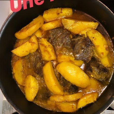 Viande et pommes de terre fondantes